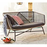户外阳台沙发休闲椅北欧风格创意藤编露天花园订制桌椅组合庭院ll