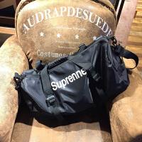 日韩原创字母印花手提包时尚运动健身单肩包男女旅行袋实用行李包 大