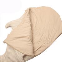婴儿睡袋秋冬季鲨鱼睡袋棉宝宝厚被子彩棉抱被