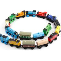 木制托马斯小火车头套装磁性轨道木质儿童滑行玩具车大号3岁 +