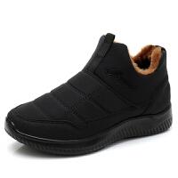 棉鞋女冬季老北京保暖鞋加绒防滑中老年人妈妈鞋防水短靴雪地靴女