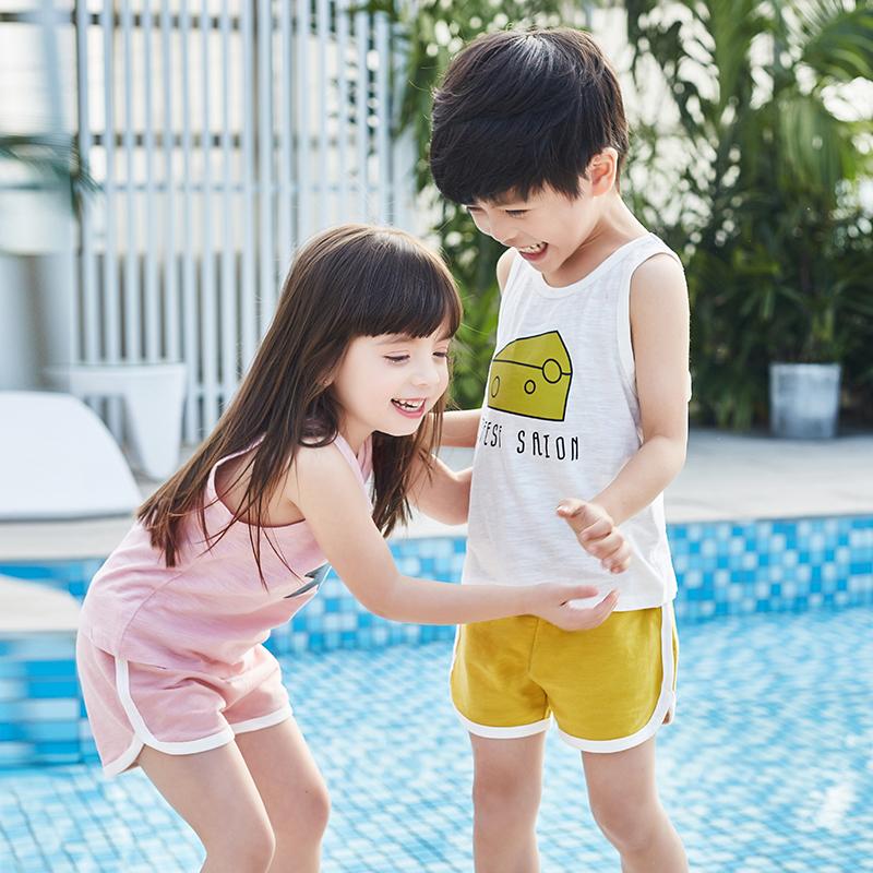 儿童背心夏装薄工字无袖婴儿童吊带装竹节棉男女童上衣潮