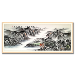 广州知名画家 万勇《云涌青山远》
