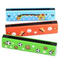 音乐早教益智玩具 奥尔夫乐器16孔儿童口琴 彩色木制吹奏音乐玩具