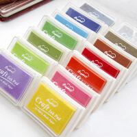 韩国文具 凹腰彩色超大印泥 橡皮章专用印泥 DIY 印台 纯色16款