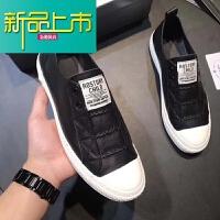 新品上市18新款头层牛皮百搭鞋男鞋简约个性休闲板鞋潮小白鞋
