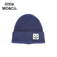 littlemoco秋季新品儿童毛线帽针织帽小丑刺绣章仔含羊毛保暖帽子