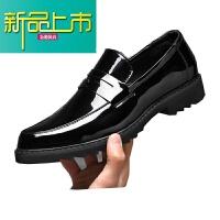新品上市18秋季新款男士皮鞋韩版学生百搭懒人一脚蹬休闲鞋英伦小皮鞋男