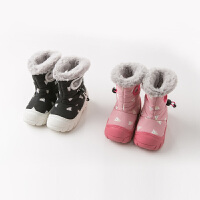 davebella戴维贝拉童装冬新款男女童靴子宝宝加绒保暖棉靴DB11122