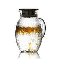 凉水壶玻璃耐热高温防爆家用大容量水瓶凉白开水杯茶壶套装冷水壶