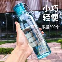乐扣乐扣水杯便携塑料随手杯夏学生情侣水壶户外运动大容量杯子