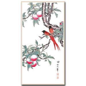 中国美术家协会会员  田世光  《花鸟》DW123附出版物