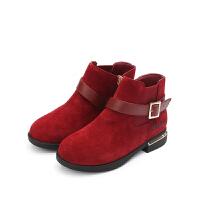 【159元任选2双】百丽Belle中小童童靴特卖鞋DE0451