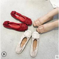 女鞋小清新仙女鞋百搭韩版鞋子女软底网红豆豆鞋女士平底休闲单鞋