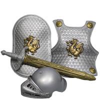 铠甲勇士盔甲套装 圣诞节儿童表演服幼儿盔甲套装cos铠甲勇士道具头盔玩具盾牌