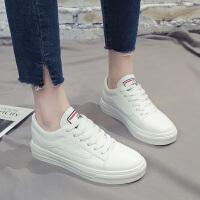 春季新款韩版休闲鞋百搭学生女鞋透气小白鞋平底运动鞋ins板鞋女 白色 H19K