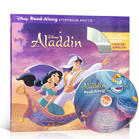 英文原版 阿拉丁神灯(配CD) 一千零一夜童话 Aladdin Read-Along Storybook and CD