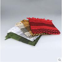 多彩围巾 阿拉伯方巾骑行围巾面罩 纯棉军迷头巾魔术百变围脖