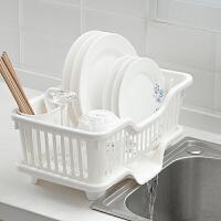 FaSoLa厨房收纳架 碗碟餐具沥水架沥水篮碗架 底部沥水碗筷笼架子