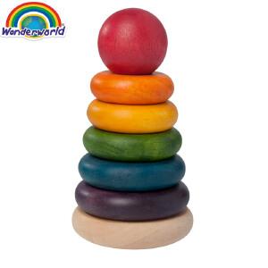 [当当自营]泰国Wonderworld 叠叠乐 大号组合叠叠圈 益智叠塔 木质玩具