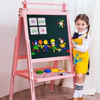 七巧板小学生儿童无尘画画板家用支架式小黑板双面磁性宝宝写字板