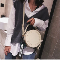 茉蒂菲莉 小圆包女 2019新款韩版百搭磨砂复古手提包时尚简约斜挎单肩包