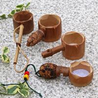 日式茶道竹茶滤 创意竹根滤网勺竹茶虑茶漏茶具 过滤器配件