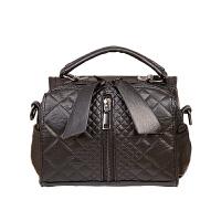 手提包女包包秋冬大容量女包车缝线格子单肩包斜挎包