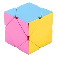 齿轮魔方三阶圆柱枫叶223异形233魔方顺滑 p 斜转魔方粉 实色