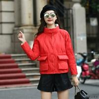 轻薄羽绒服女短款2018新款韩版两面穿宽松时尚小个子立领冬外套潮