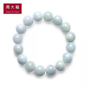 周大福珠宝弹力绳时尚翡翠玉手链K62996
