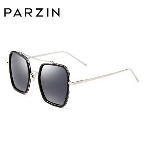 帕森新款TR90情侣大框复古偏光太阳镜 女士方框潮墨镜驾驶镜 9826
