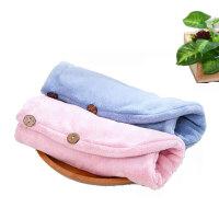小米有品喜方良品纤柔速吸加大加厚干发巾 柔软成人纤维沐浴干发帽浴帽