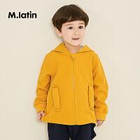 【2件3折价:140.7元】马拉丁童装男小童夹克秋装新款洋气可爱图案黄色连帽短外套
