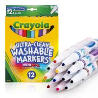 Crayola绘儿乐 58-7813 可水洗12色细头水彩笔 当当自营