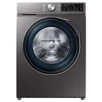 三星(SAMSUNG)10公斤滚筒洗衣机智能变频纤薄大容量蒸汽除菌泡泡净WW1WN64FTBX/SC