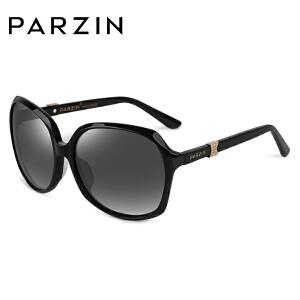帕森板材时尚复古潮流墨镜金属钻扣 女士大框驾驶偏光太阳镜 9629