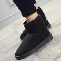 雪地靴男低帮男士面包棉鞋韩版加绒棉靴冬鞋保暖加厚短靴冬季男鞋