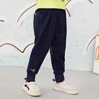 【6折价:197.4元】马拉丁童装男女大童裤子春装2020年新款针织长裤萝卜裤收口裤