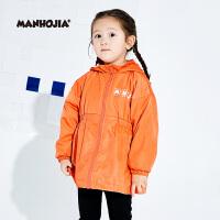 【秒杀价:169元】MHJ漫画家童装女童外套秋装新品趣味印花儿童时尚风衣外套潮