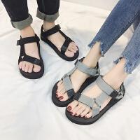 夏季凉鞋男士个性情侣潮拖人字凉拖鞋韩版时尚外穿室外沙滩鞋