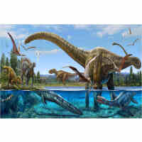 1000片木质拼图500儿童卡通动物玩具礼物 恐龙园