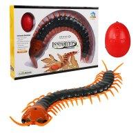 整蛊玩具电子遥控蛇创意礼物恶搞整人动物玩具 全色 蜈蚣 送螺丝刀和电池组