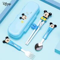 迪士尼儿童筷子练习训练筷一段宝宝家用小孩男女孩学习筷勺子套装