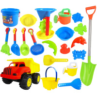 儿童沙滩玩具车套装挖沙漏铲子婴儿洗澡决明子工具宝宝玩沙子大号