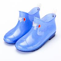 儿童雨鞋男女童防滑水鞋宝宝雨靴小孩学生胶鞋大童中童公主水晶鞋
