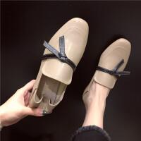 单鞋2019年春季时尚韩版休闲舒适复古风女士圆头平底新款百搭女鞋