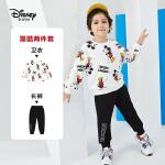 【8.10号品秒价:78.9元】迪士尼男童套装幻想即兴曲男童针织圆领长袖套装2020秋季新款