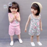 女童夏装女宝宝衣服装小童时髦童装洋气套装潮