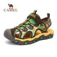 camel骆驼户外儿童款沙滩鞋 青少防撞防滑魔术贴沙滩凉鞋
